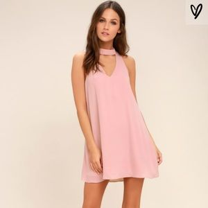 Lulu's Blush Pink Groove Thing Swing Dress